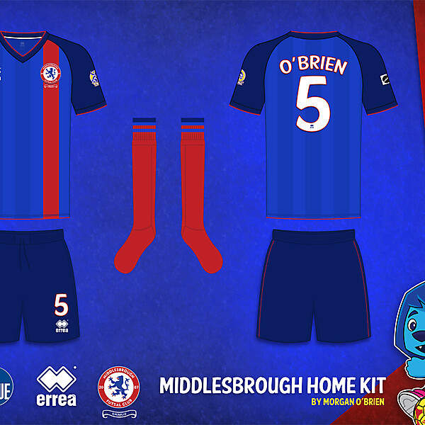 Middlesbrough Home Kit 007 by Morgan OBrien