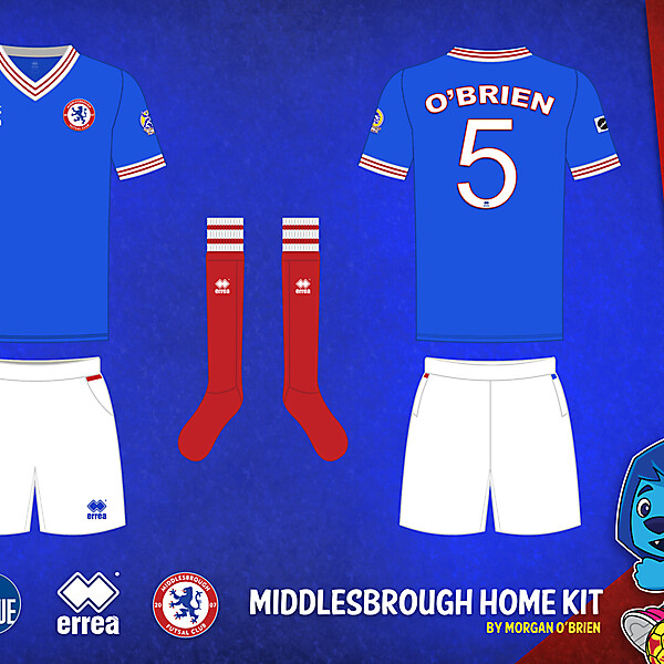 Middlesbrough Home Kit 008 by Morgan OBrien