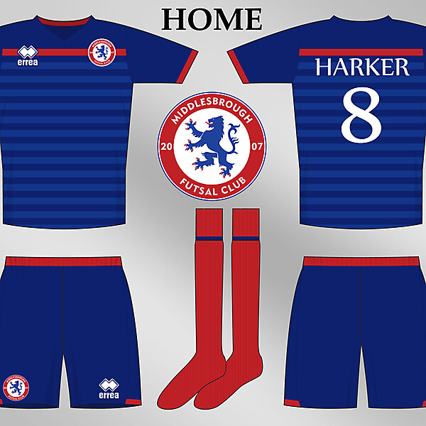 Middlesbrough Futsal Club 2013 Erreà Home Kit Design Competition (closed)