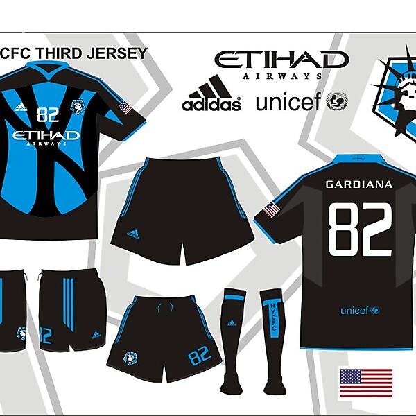 MLS Expansion team NYCFC THIRD V2 KIT