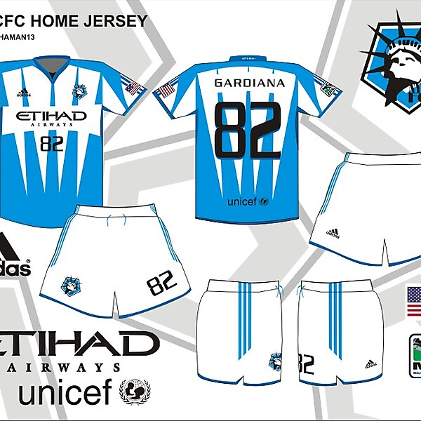 MLS Expansion team NYCFC HOME KIT Design