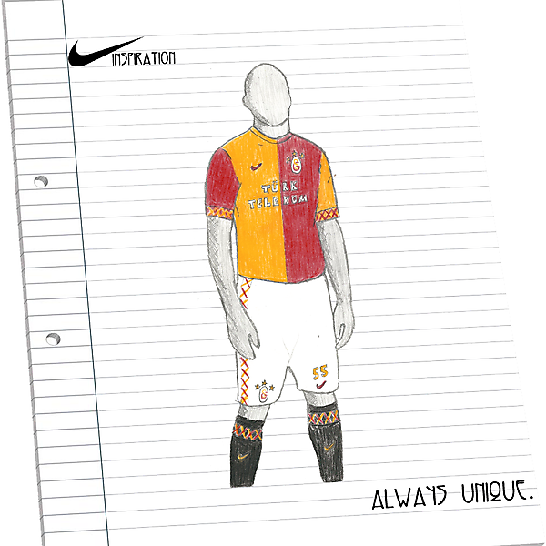 Galatasaray SK Home - Nike INSPIRATION Kit