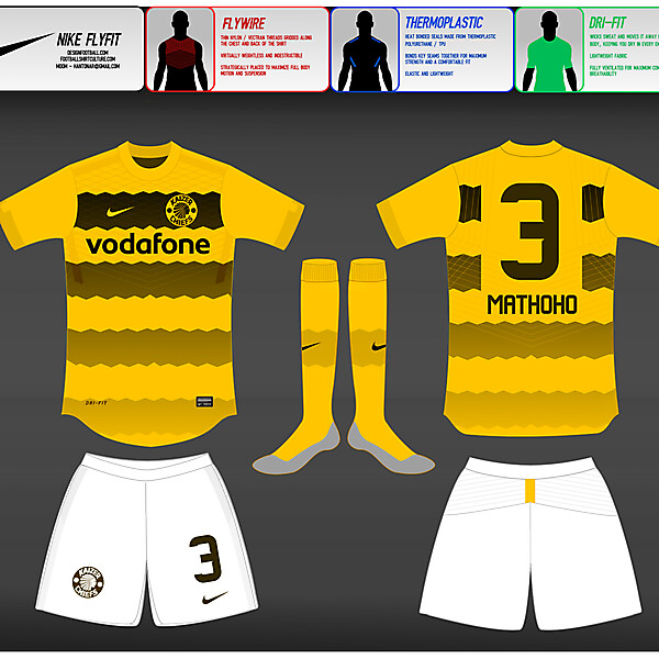 (2) Nike Fly-Fit  : Kaizer Chiefs