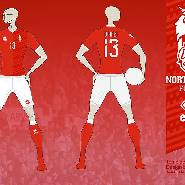 NE FUTSAL Home kit 01b, based in Matupeco's crest v01