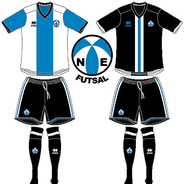 North East Futsal Crest and Kits V.3