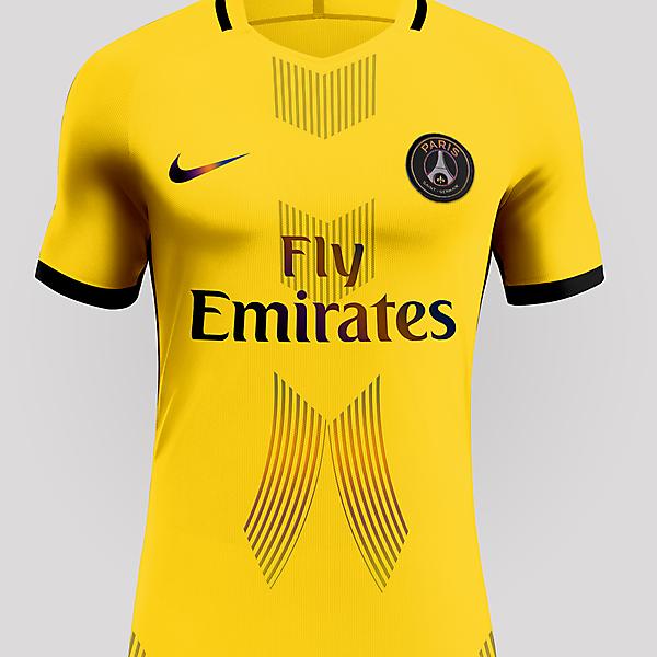 PSG Yellow Iridescent jersey