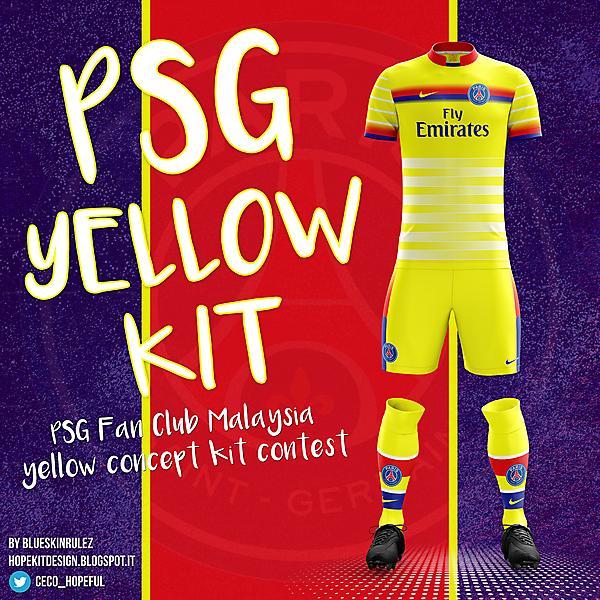 PSG Yellow Kit Concept