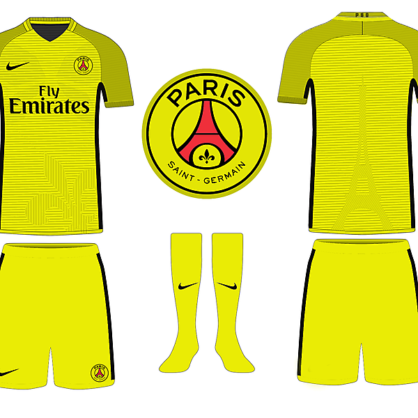 PSG Yellow Kits Concept