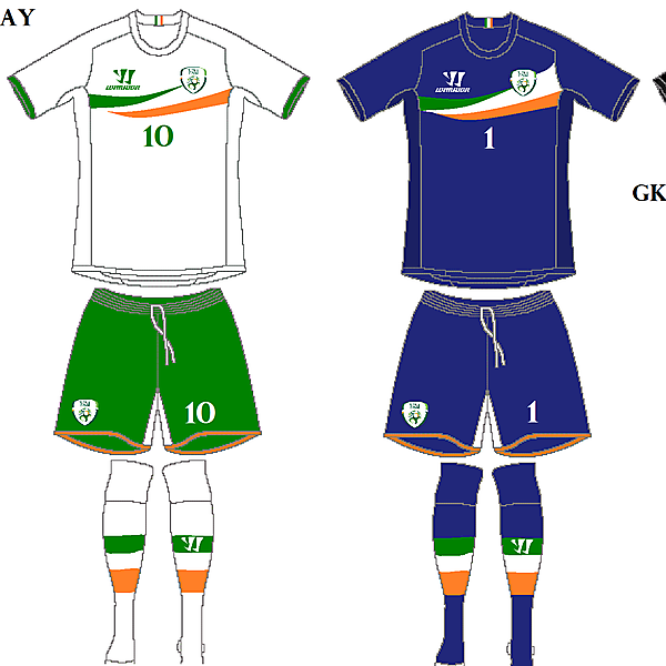 Rep. of Ireland (Home, Away and 2 GK)