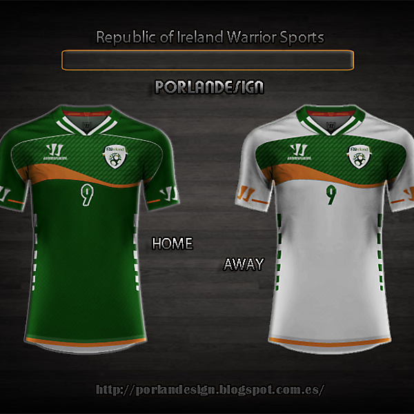 Republic of Ireland Warrior Sports Football Kit Competition (closed)
