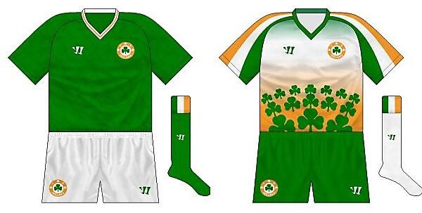 Warrior Ireland home and away