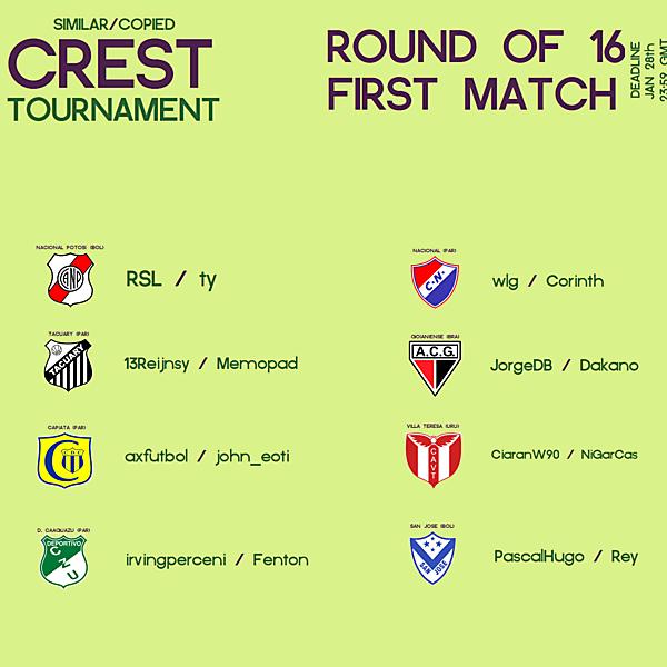 ●Similar/Copied Crest Tournament● (closed)