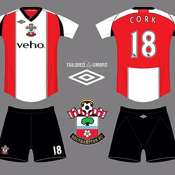 Southampton FC 2014/15 Umbro home kit