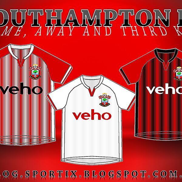 Southampton FC Home, Away and Third Kits