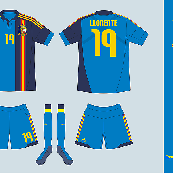 Selección Nacional de España Away kit version 01
