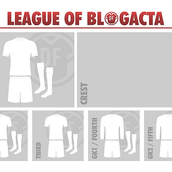 The League of Blogacta Kit and Crest Gallery [CLOSED]