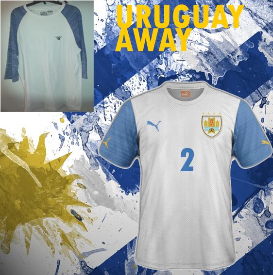 Uruguay away (from VANS t-shirt)