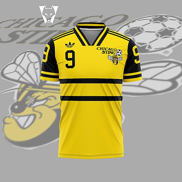 Chicago Sting - home shirt
