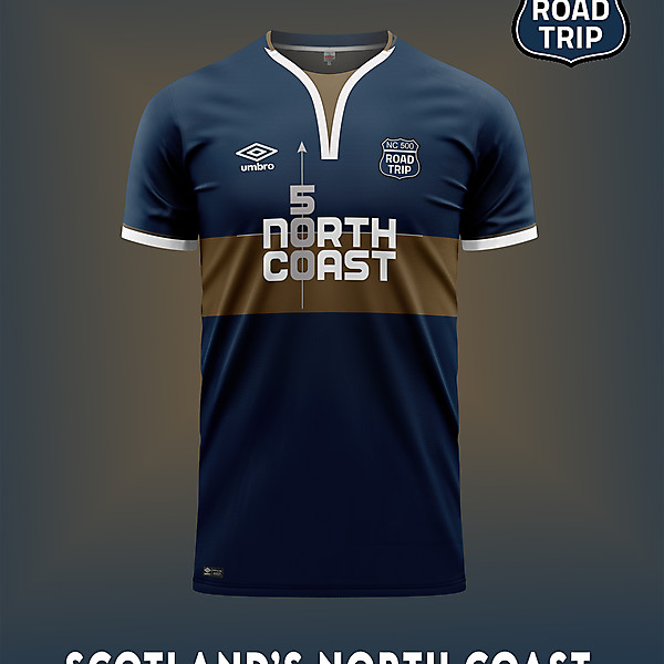 North Coast 500 soccer shirt concept