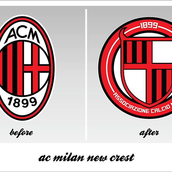 ac milan new crest