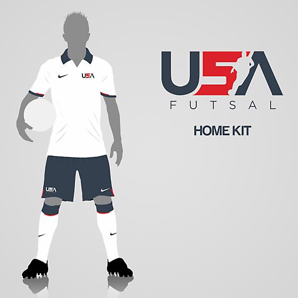 USA Futsal Home Kit
