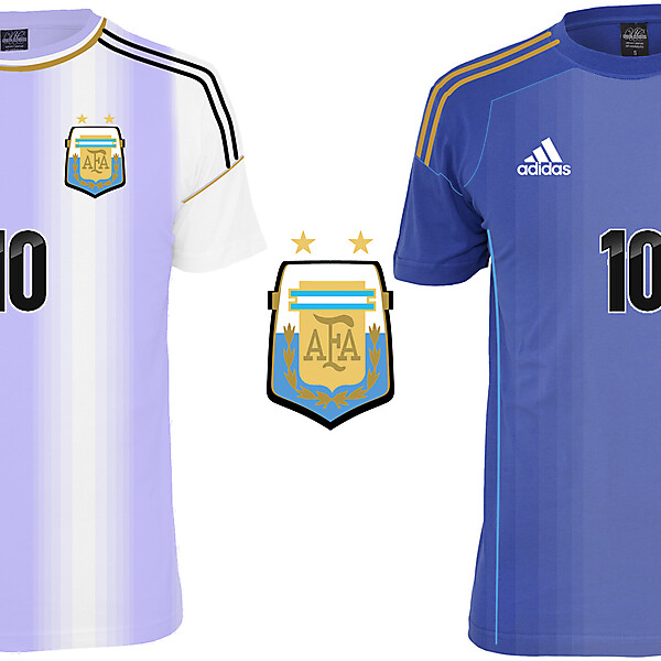 Argentina Home and Away shirts