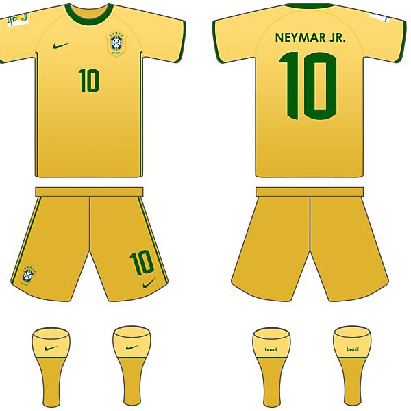 Brazil 2014 Home kit.