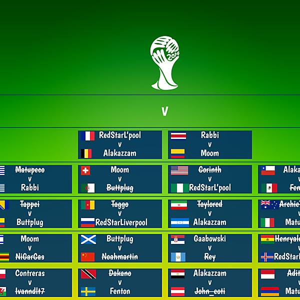 Semi Final Matchups
