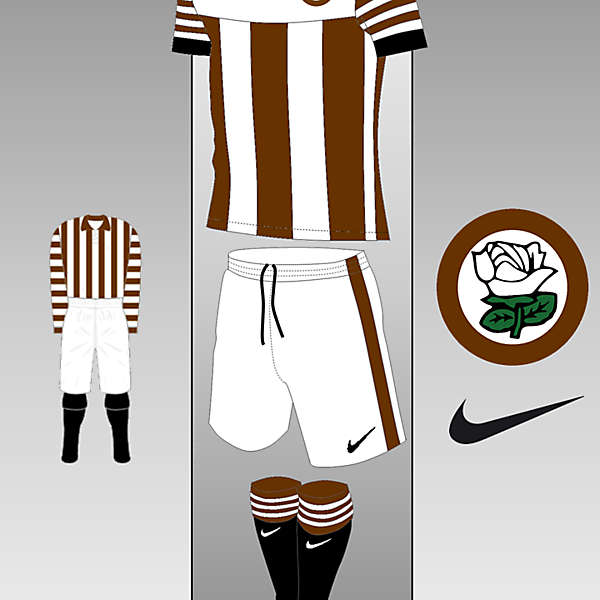 Barnsley Nike kit Inspired by 1889-1891 Home Shirt