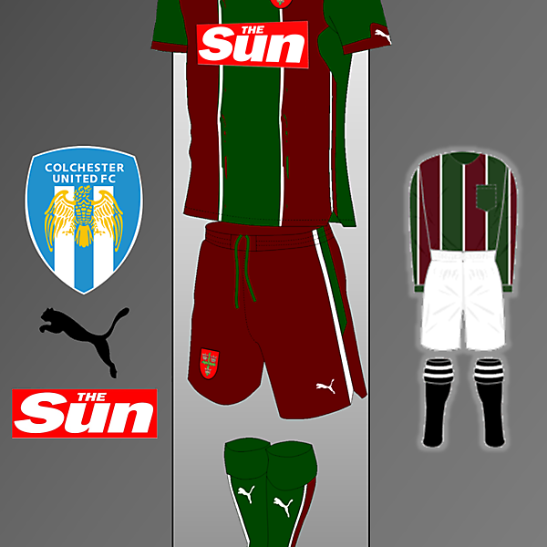 Colchester United Puma kit Inspired by Colchester Town Kit  1913