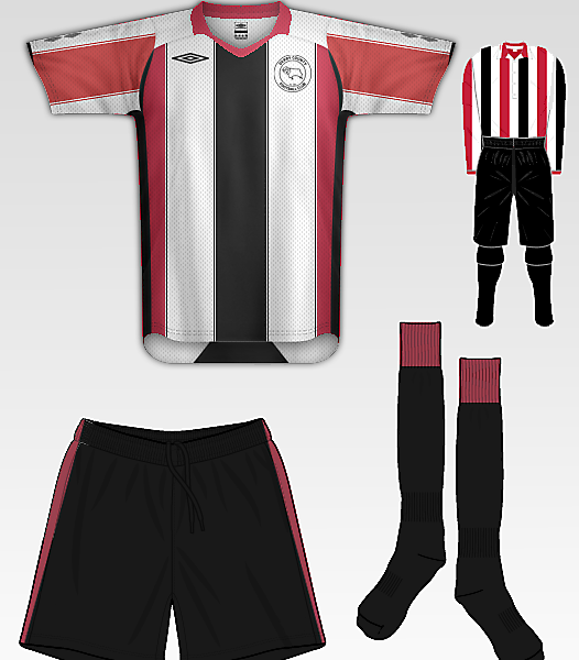 Derby County remake of 1894 Kit