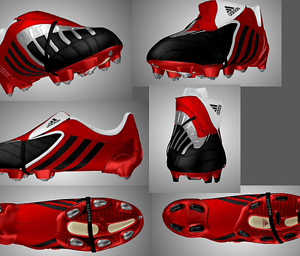 Adidas Predator Power Swerve Scarlet/Black