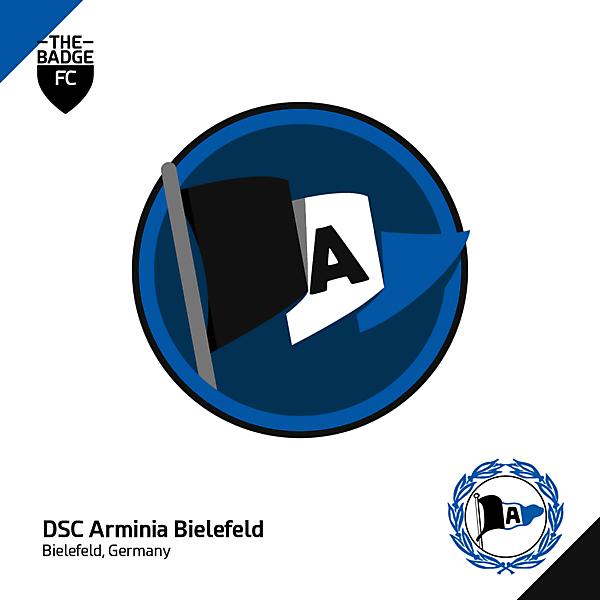 Arminia Bielefeld Crest Concept by @thebadgefc