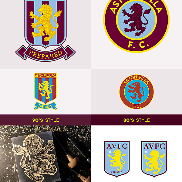 Aston Villa - mix between latest rebranding and past badges