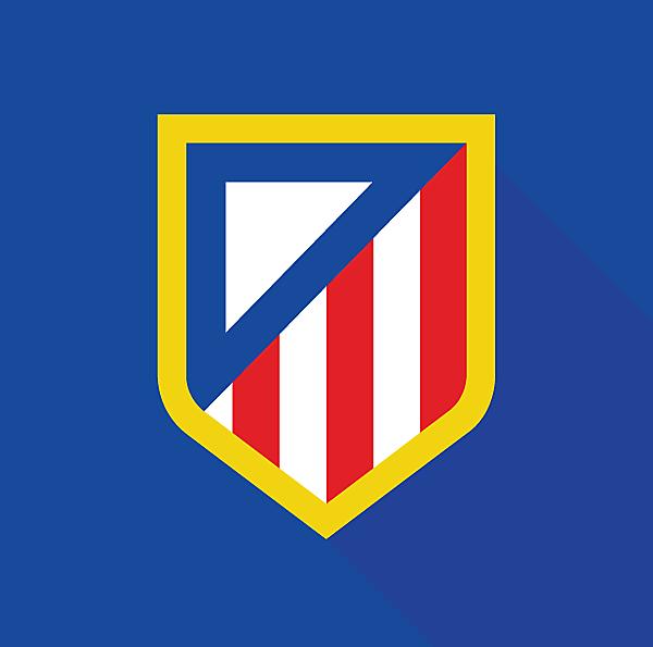 Atletico Madrid Logo (Minimalist)