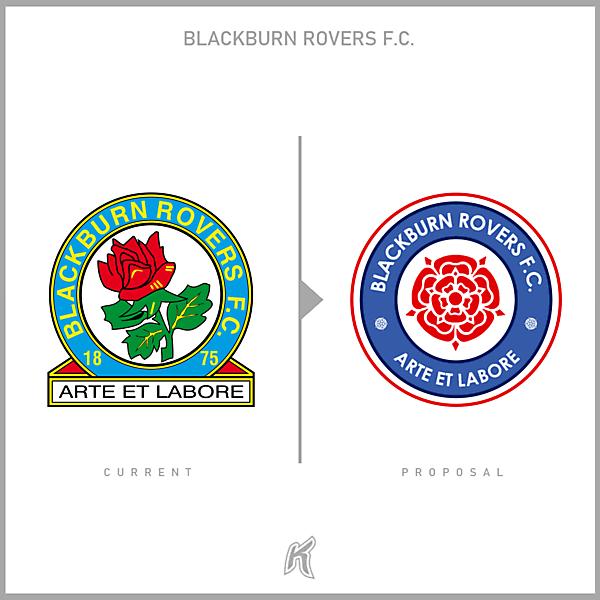 Blackburn Rovers FC Logo Redesign