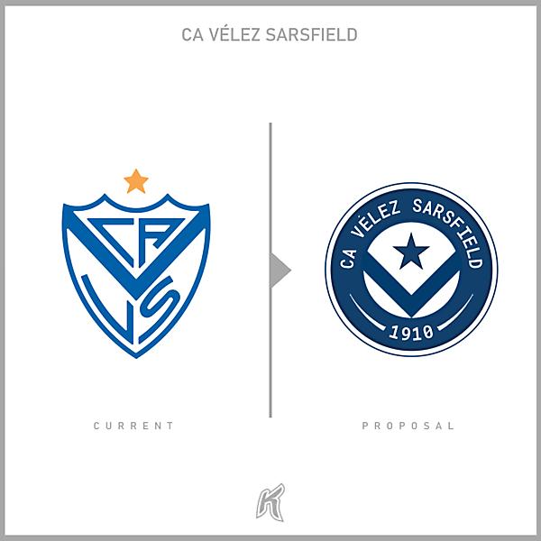 CA Vélez Sarsfield Logo Redesign