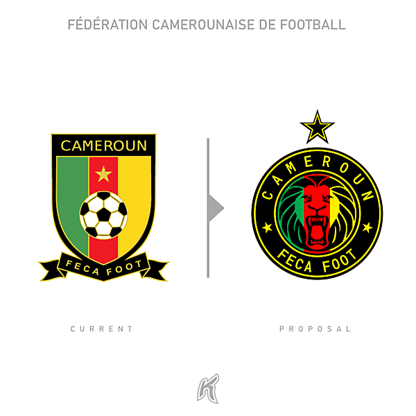 Cameroun FECA FOOT Logo Redesign