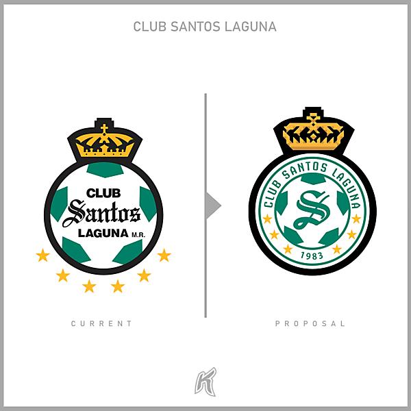 Club Santos Laguna Logo Redesign