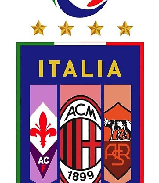 Crest Fusions - Italy, Fiorentina, Roma, & Milan