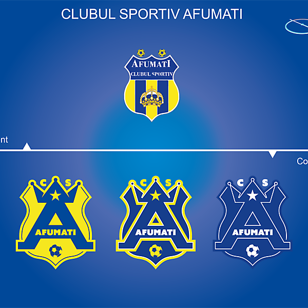 CS Afumati Logo Rebrand