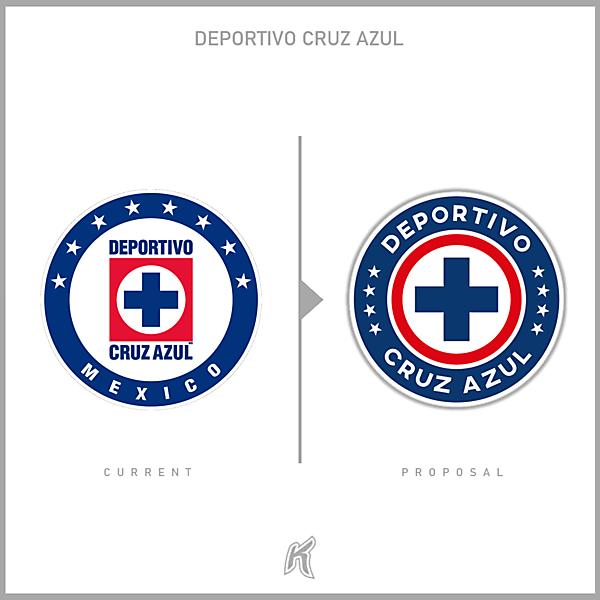 Deportivo Cruz Azul Crest Redesign