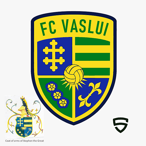 FC Vaslui - Concept Design based on the historical coat of arms of Stephen the Great