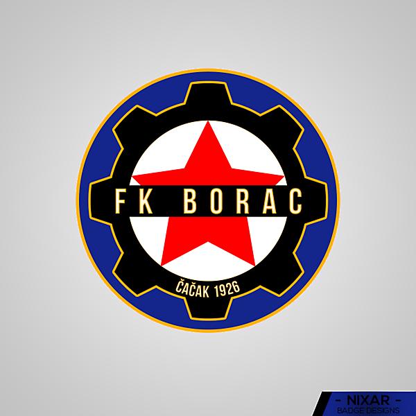 FK Borac Čačak Badge Redesign by Nixar