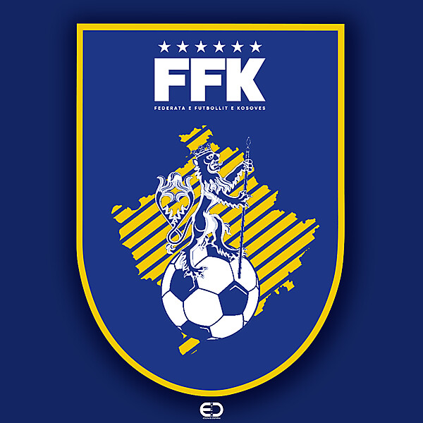 KOSOVO LOGO - FFK LOGO - Design by: EO