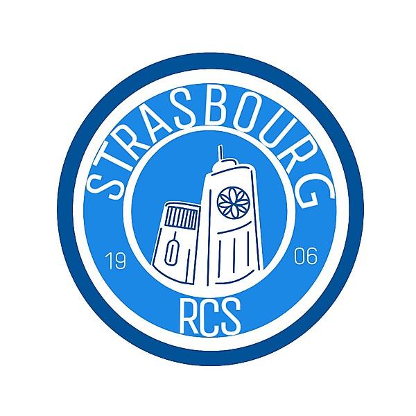 Logo for Racing Club of Strasbourg , RCS , RCSA