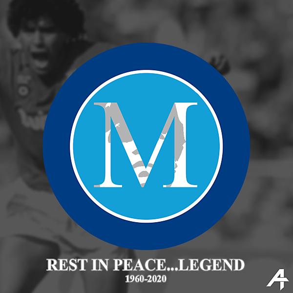 Napoli logo redesign (Maradona tribute)