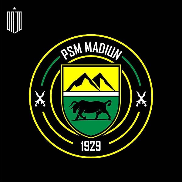 PSM Madiun Crest Redesign Concept