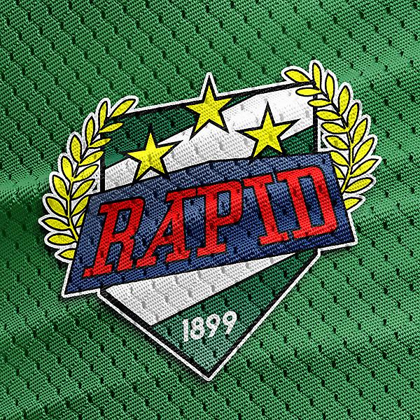 rapid wien crest on jersey