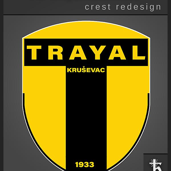 Trayal Krusevac - Crest Redesign 2